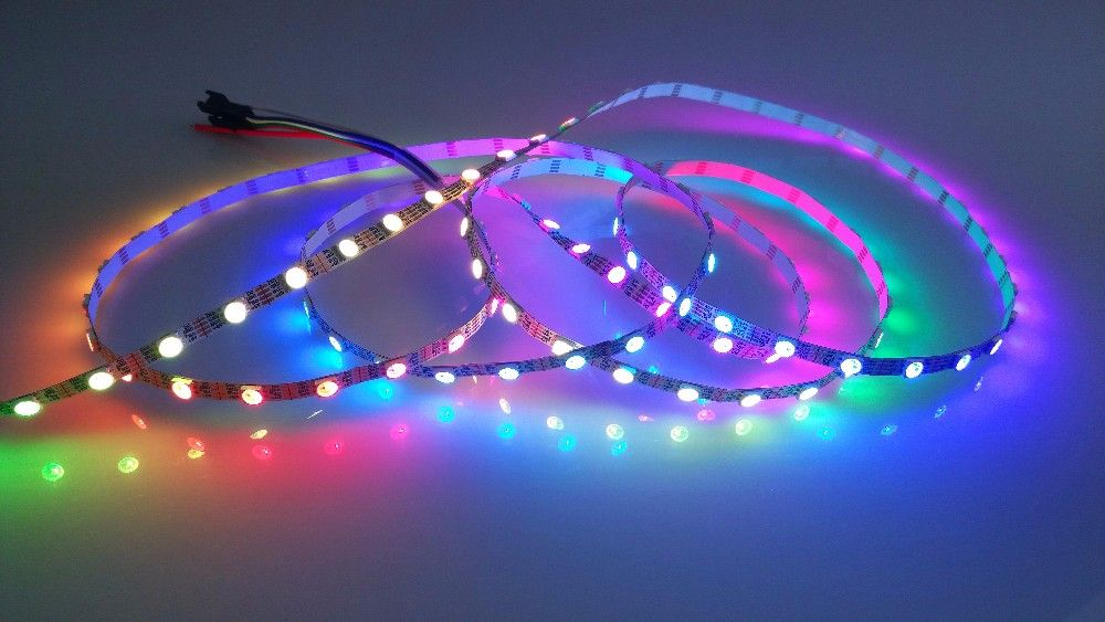 Addressable 5m 30leds M Dc5v Ws2813 Rgb Led Pixel Strip Waterproof By Silicon Coating Ip65 With 30pixels M White Pcb Rgb Led Crown Jewelry Led