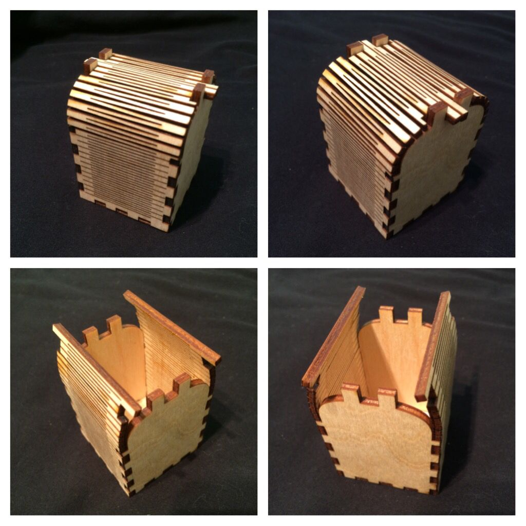 lasered box project | student built high school projects