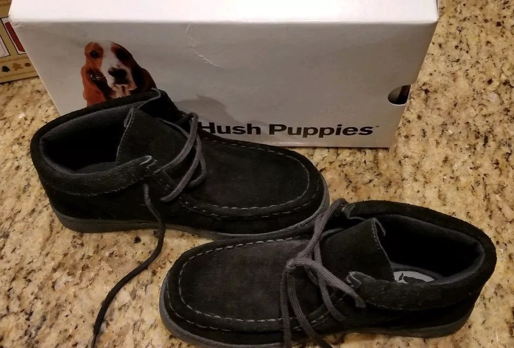 Hush Puppies Boys Bridgeport 2 Black Suede Boots Nib Size 03w Fashion Clothing Shoes Accessories Kidsclothingshoe Suede Boots Black Suede Boots Boys Shoes