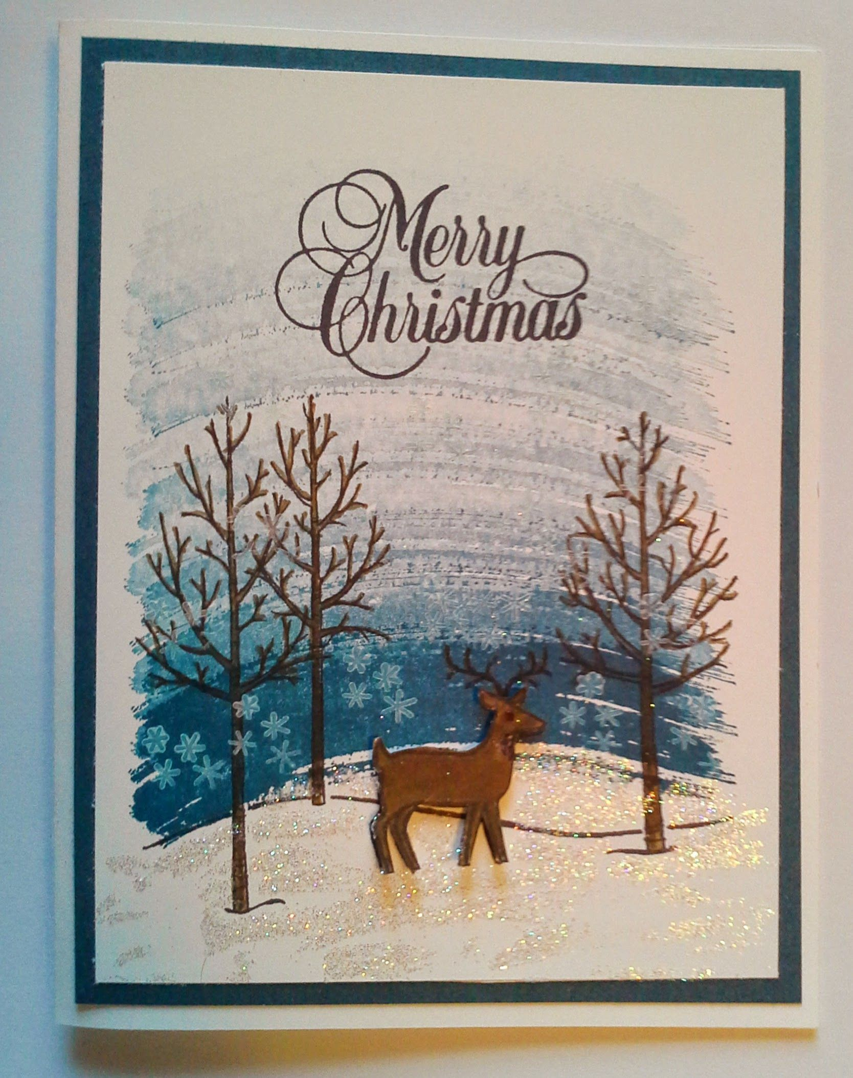 I Recently Made These Christmas Card For My Card Making Classes At