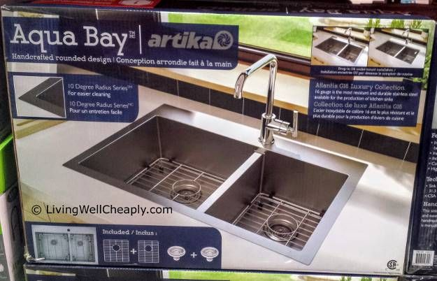 Artika Aqua Bay Double Kitchen Sink at Costco | Living Well Cheaply ...
