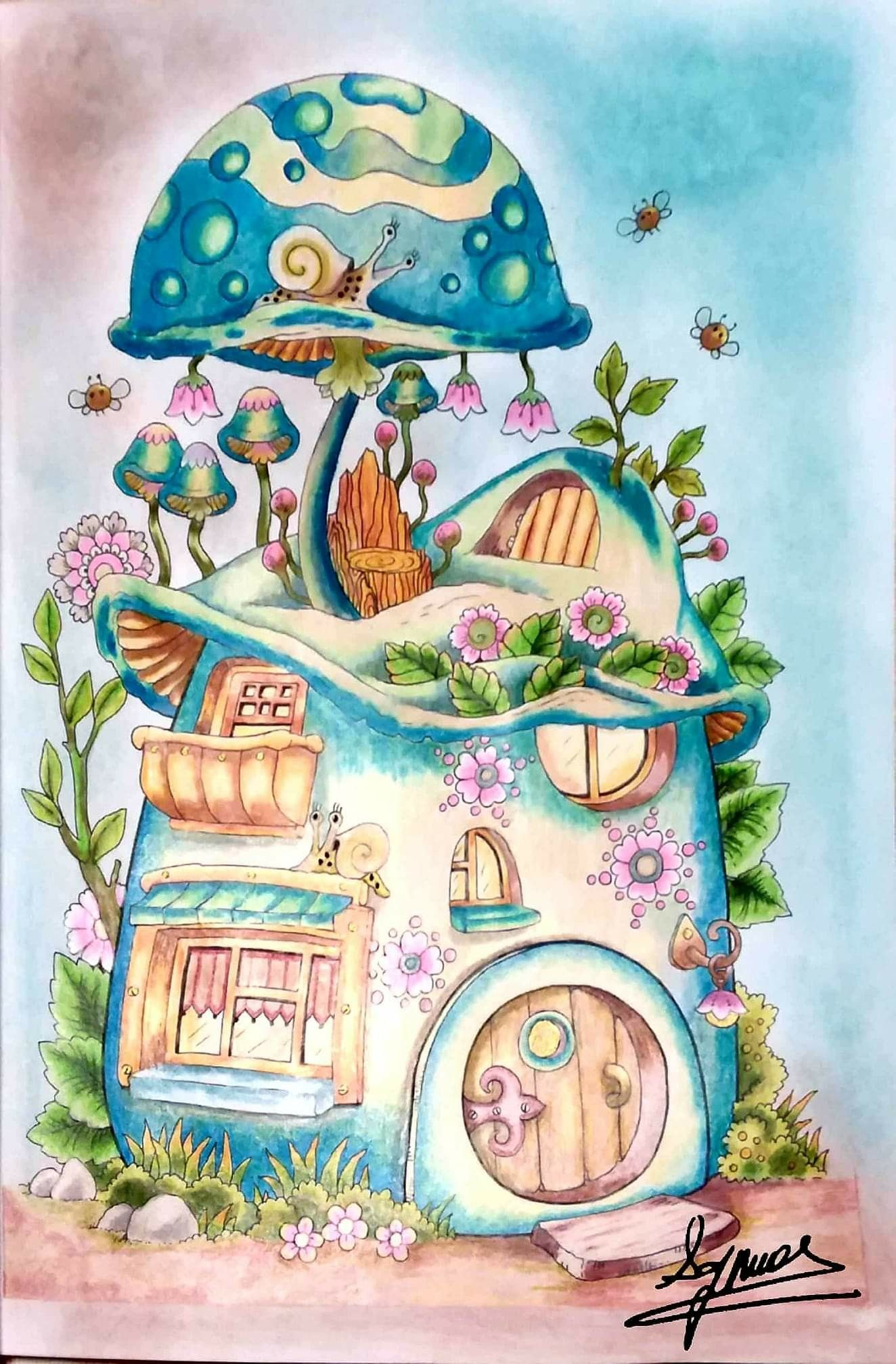Pin By Bobbie King On Drawings Coloring Book Art Whimsical Art Art Drawings For Kids
