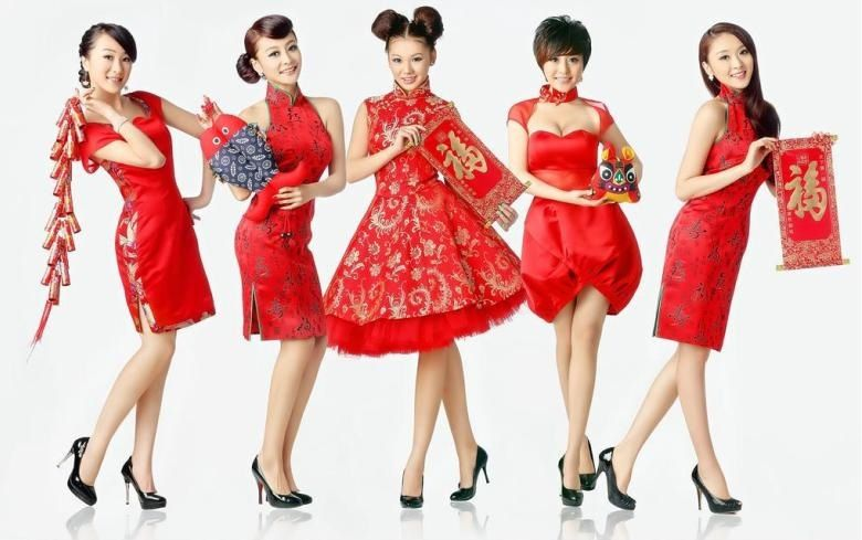Chinese Festivals Chinese New Year Outfit Beautiful Red Dresses Chinese Festival