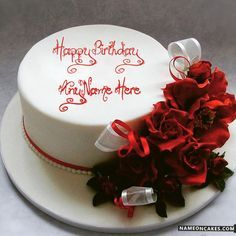 Best Romantic Birthday Cake Design For Lover With Name Nn