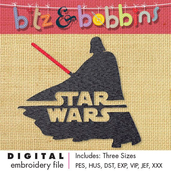 Darth Vader Star Wars - Digital Embroidery Design