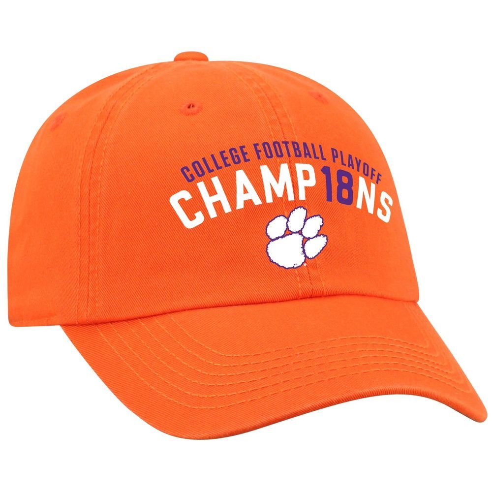 53a2f52114c12 Clemson Tigers 2018-2019 College Football National Champions Orange Adj Hat  Cap  TopoftheWorld  ClemsonTigers Support your champs and get a Clemson Hat  from ...