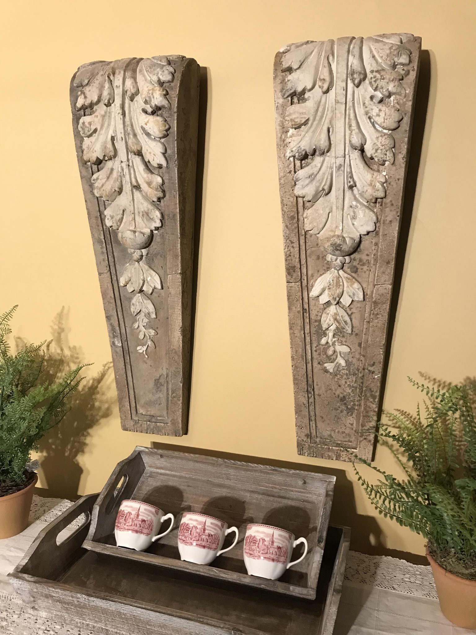 Acanthus Leaf Corbel Relic Wall Decor | Wall decor, Leaves and Walls