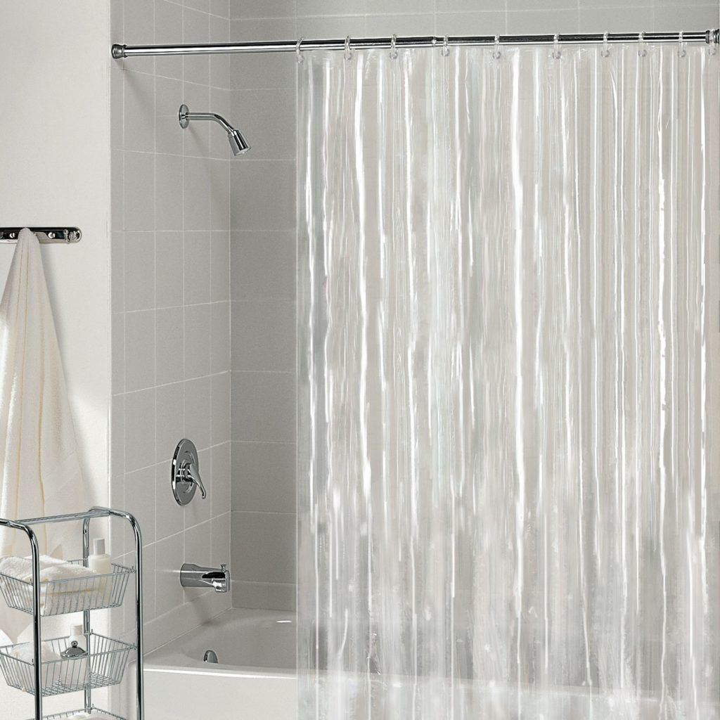 Shower Curtain Liner Hookless With Snap Black