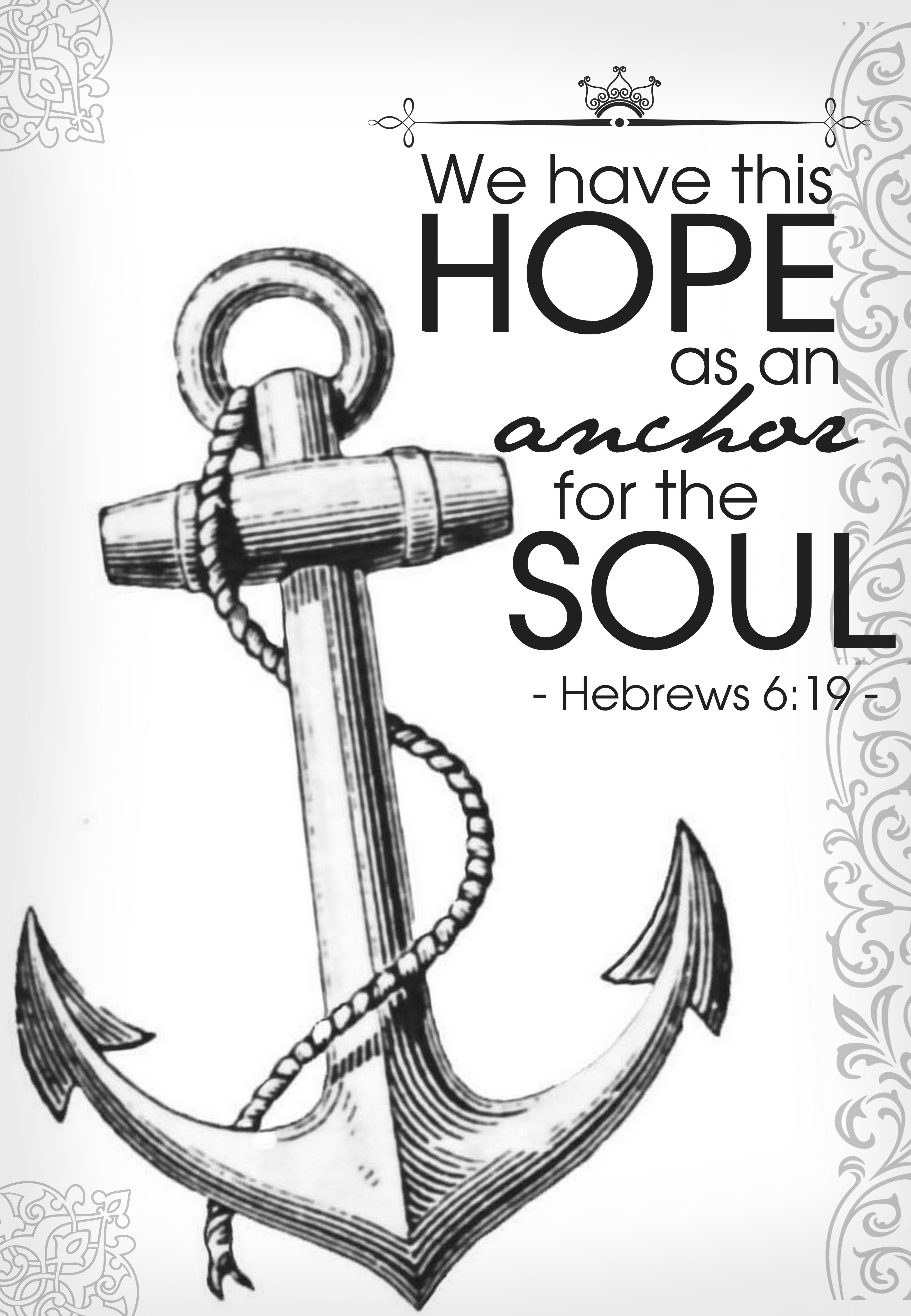 Hope anchors my soul these and those pinterest hope for Hope anchors the soul tattoo