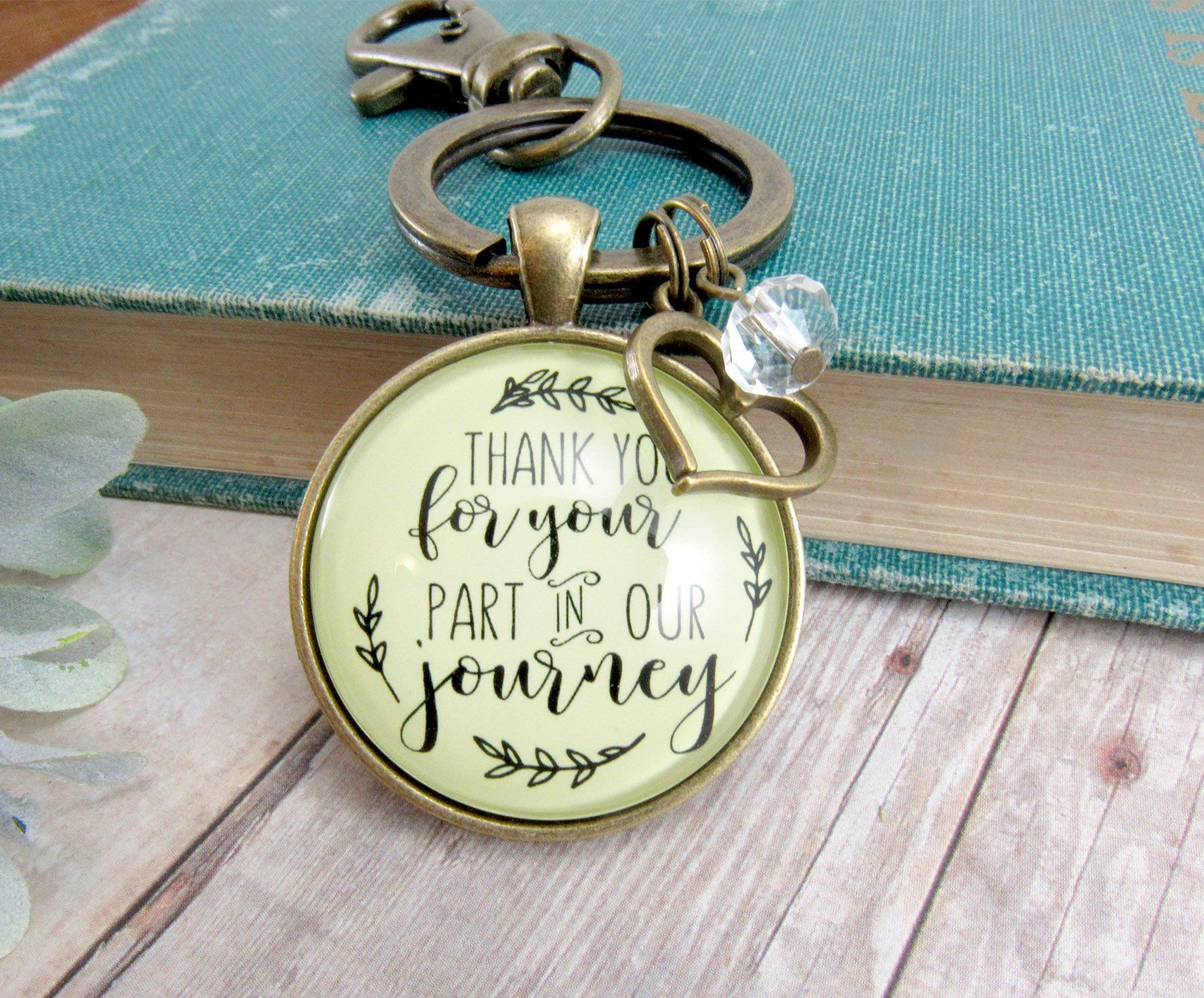 Wedding Officiant Gift Keychain Thank You For Your Part