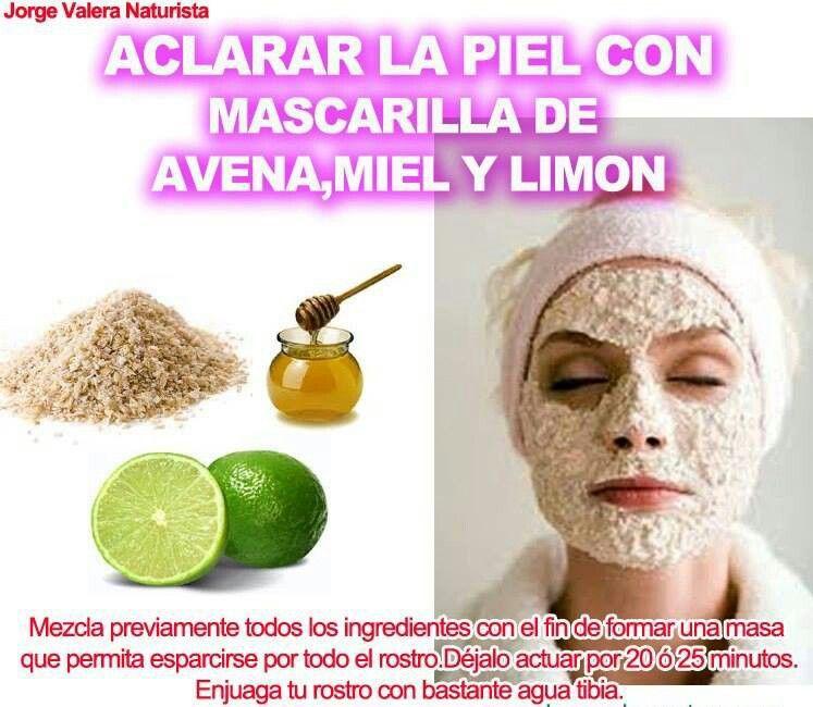 Avena y limon Tips de belleza naturales, Tratamientos de