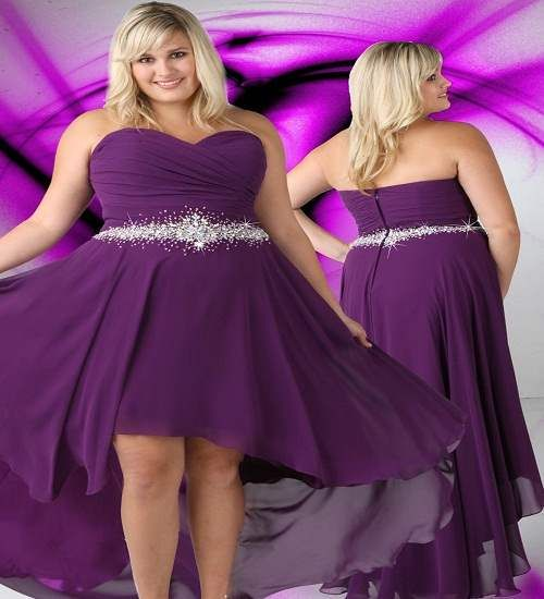 Plus Size Bridesmaid Dresses Chiffon Dark Purple
