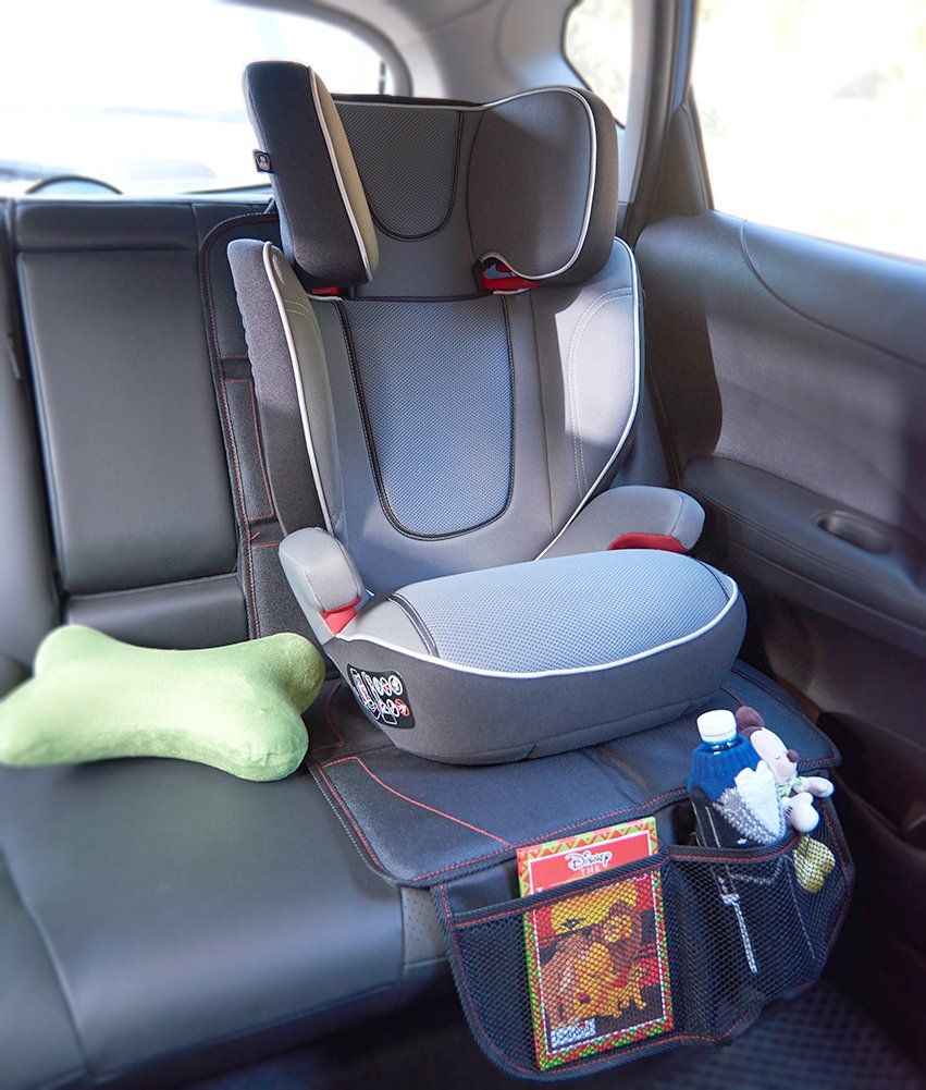 2Pack] EZOWare Car Seat / Booster Seat Protector Cover with Storage ...