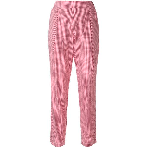 Outlet Wide Range Of Semicouture gingham cropped trousers Recommend Online Collections Sale Online Big Sale Cheap Sale The Cheapest YeaTz