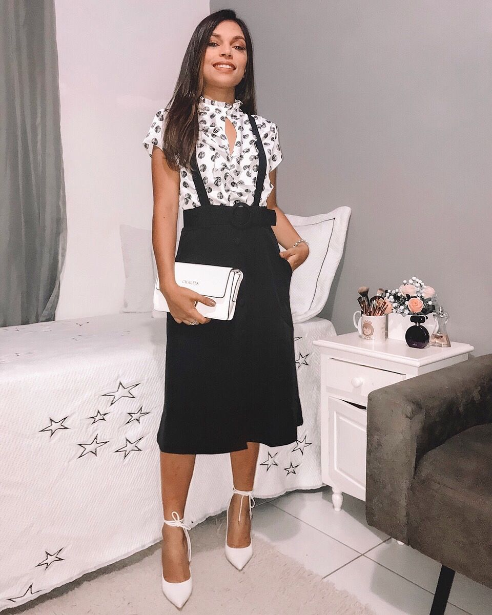 62e097a900 Salopetes moda 2018 moda evangélica Roupas Para Reunião, Roupas Femeninas, Moda  Evangelica Jovem,