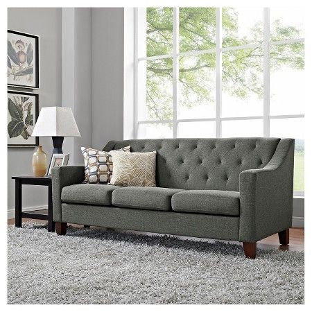felton tufted sofa gray threshold target hannah sofa rh pinterest com