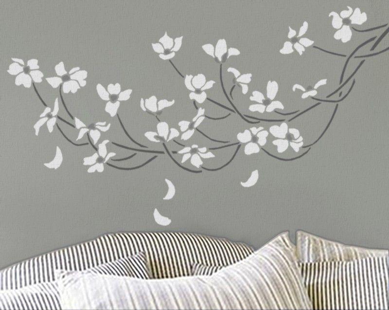 Stencil Dogwood Branch Large Reusable Wall Diy Home Decor 39 95 Via Etsy