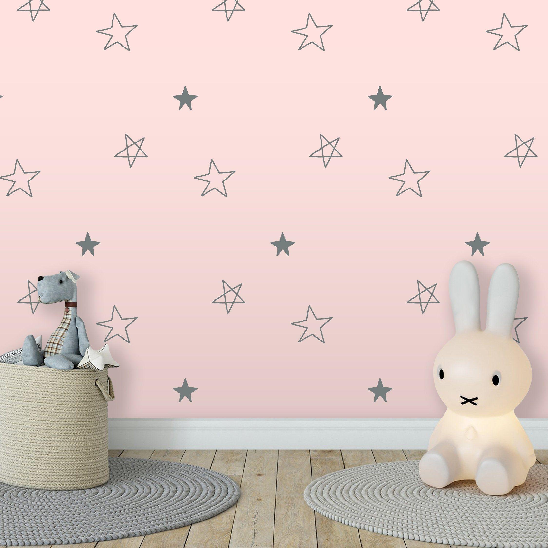 Star Drawing Pattern Decal Northern Star Wall Sticker Living Room Kid Room Nursery Bedroom Wallpaper Vinyl Wall Dec In 2020 Pattern Decal Vinyl Wall Decals Wall Decals #wall #art #stickers #for #living #room