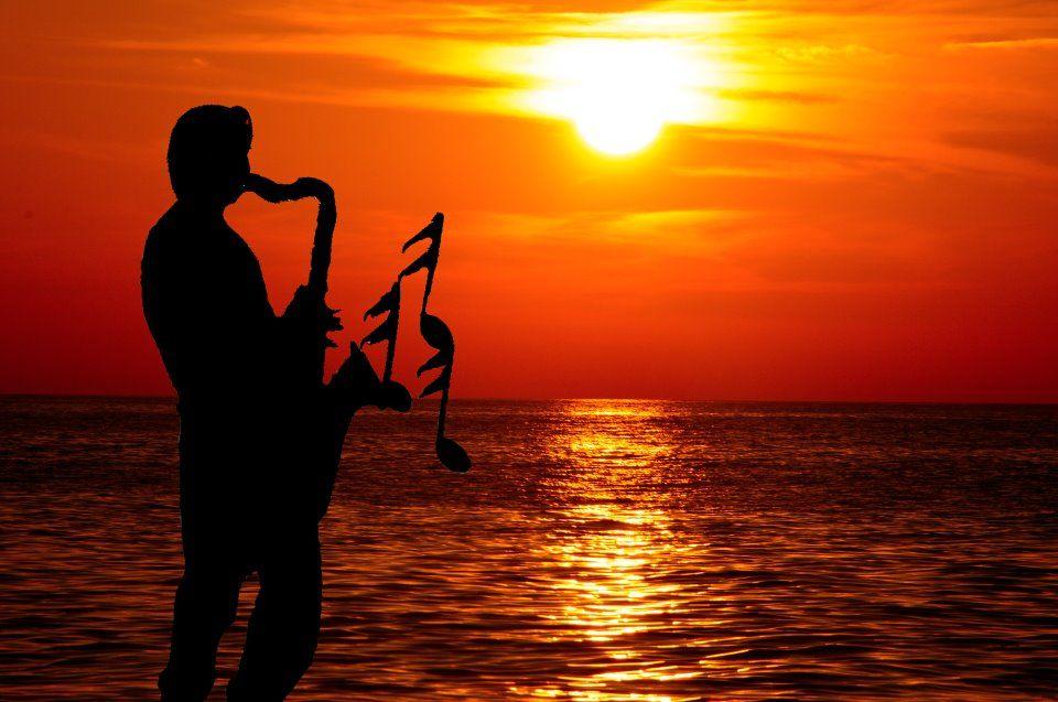 Sunset Jazz in Frederiksted St. Croix. USVI St. croix