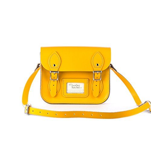 Real Leather Hand Made Mini Satchel Messenger Bag with Strap in Double Yellow >>> You can get additional details at the image link. Amazon Affiliate Program's Ads.