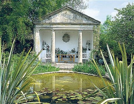 The Garden Folly And Pond At Barnsley House In Gloucestershire Was Rebuilt  In 1962
