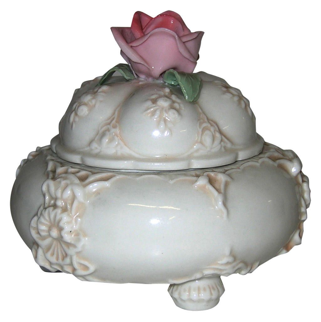 Charming ENS Volkstedt Porcelain Rose Vanity Box – FleaPop – Buy and sell home decor, furniture and antiques