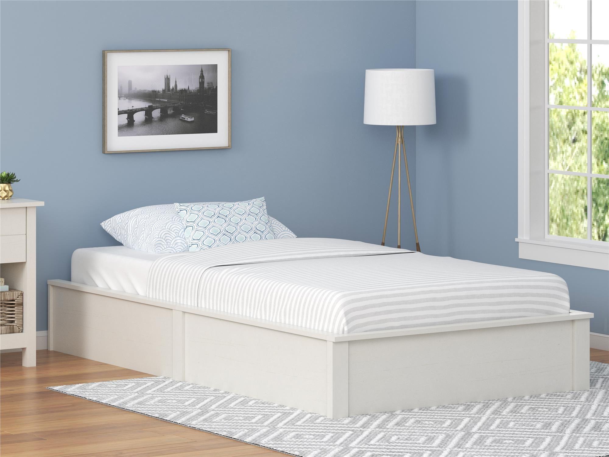Dorel Home Furnishings Austin Twin Vintage White Platform Bed Frame ...