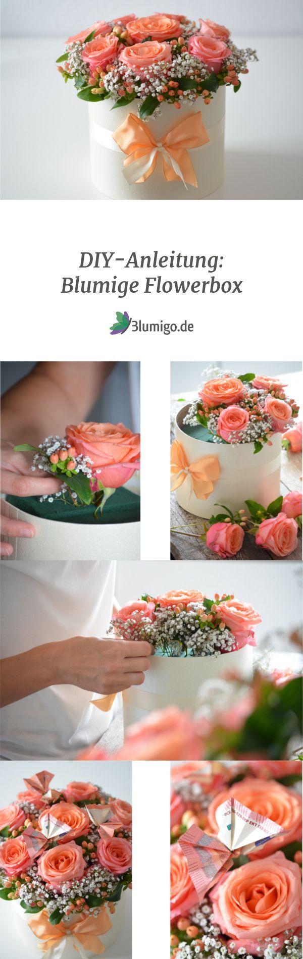 Geldgeschenke originell verpacken – eine blumige Flowerbox-DIY-Idee #frühlingblumen