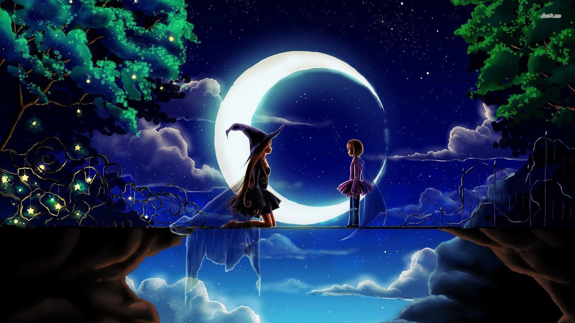 Anime Witch Fond d'écran Les arts, Paysage féerique
