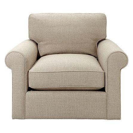 Baldwin 44 Upholstered Swivel Chair in Trinidad Flax No Skirt