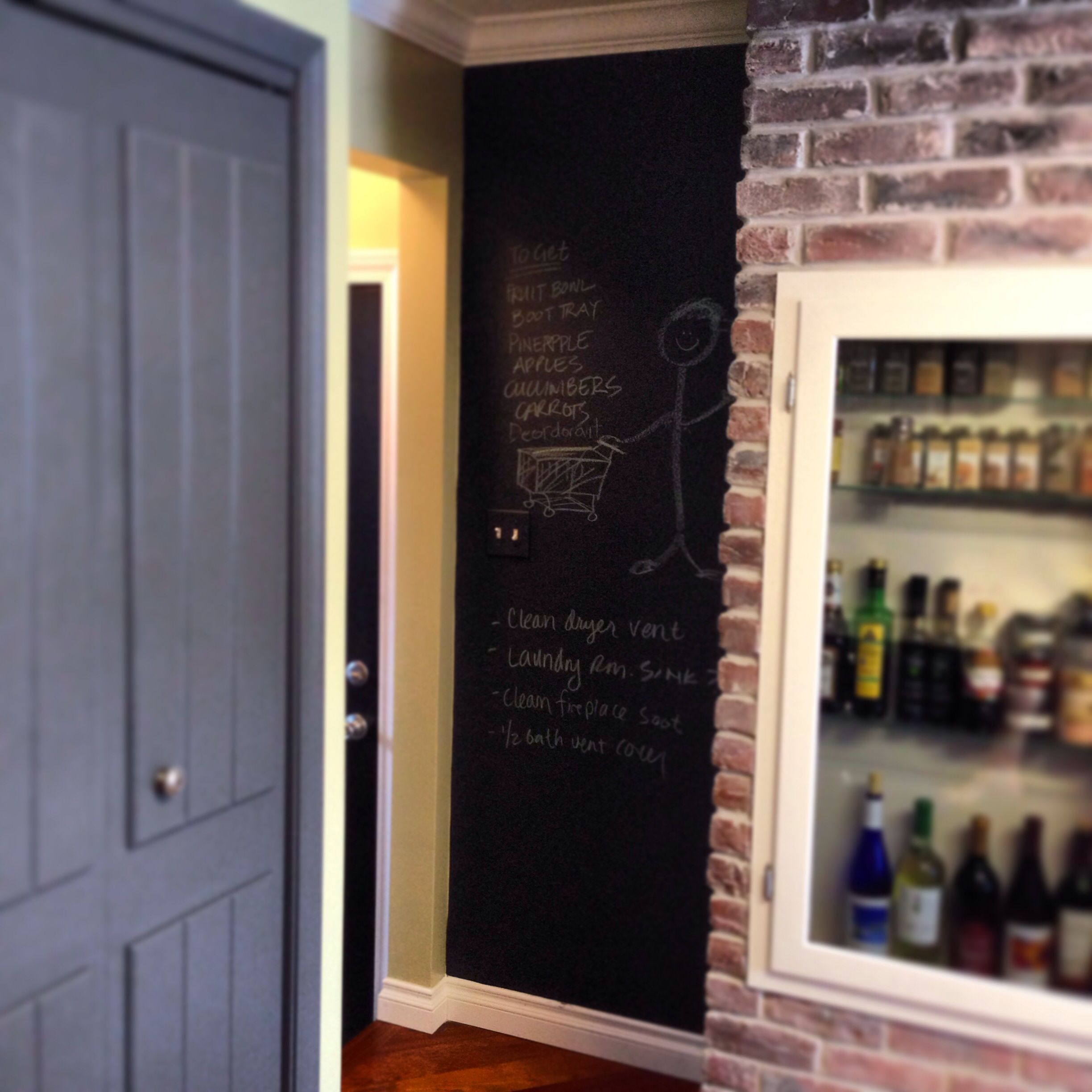Never Underestimate Chalkboard Paint Green Walls Sherwin Williams Lemongr And Cabinets Also Sw In Peppercorn
