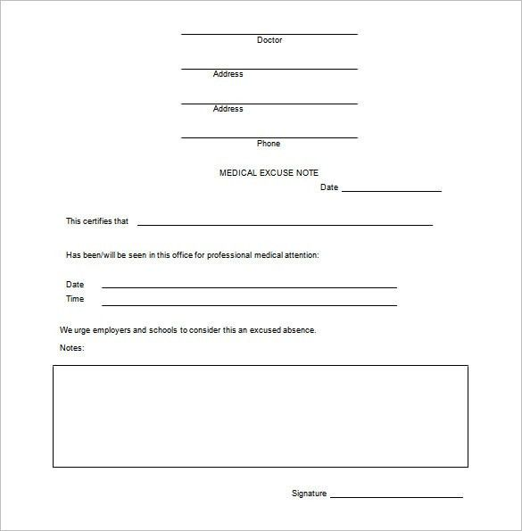 Doctor note templates for work 8 free word excel pdf download - doctor note word