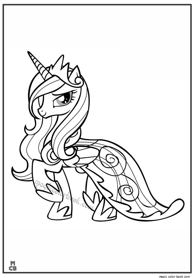 Pin By Magic Color Book On My Little Pony Coloring Pages Free Online