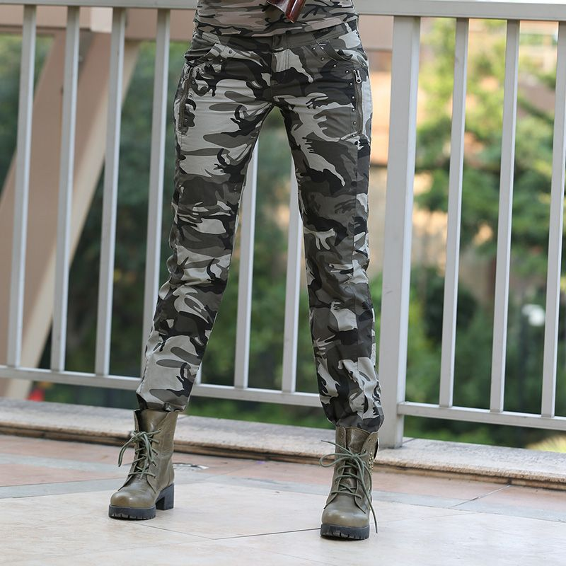 New Design Summer camouflage pants women fashion Casual sports outdoor Loose Sport  Cargo pants women Military GK-9522B Z15 alishoppbrasil