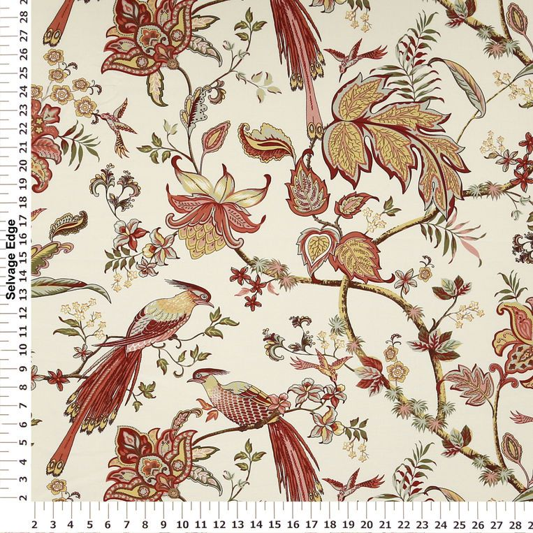 Red Luana Home Decor Fabric   Panel Coordinating Fabrics