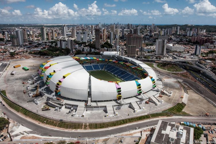The Brilliant Idea To Re Model Brazil S Empty Stadiums To Help The Poor Stadium Architecture World Cup Stadiums Stadium Design