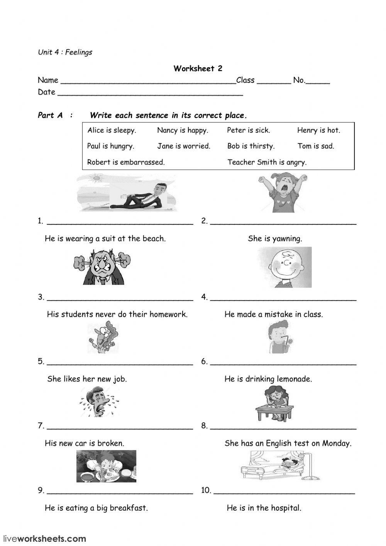 Feelings Feelings And Emotions Online Worksheet Feelings And Emotions English As A Second Language Natural Disasters Activities [ 1413 x 1000 Pixel ]