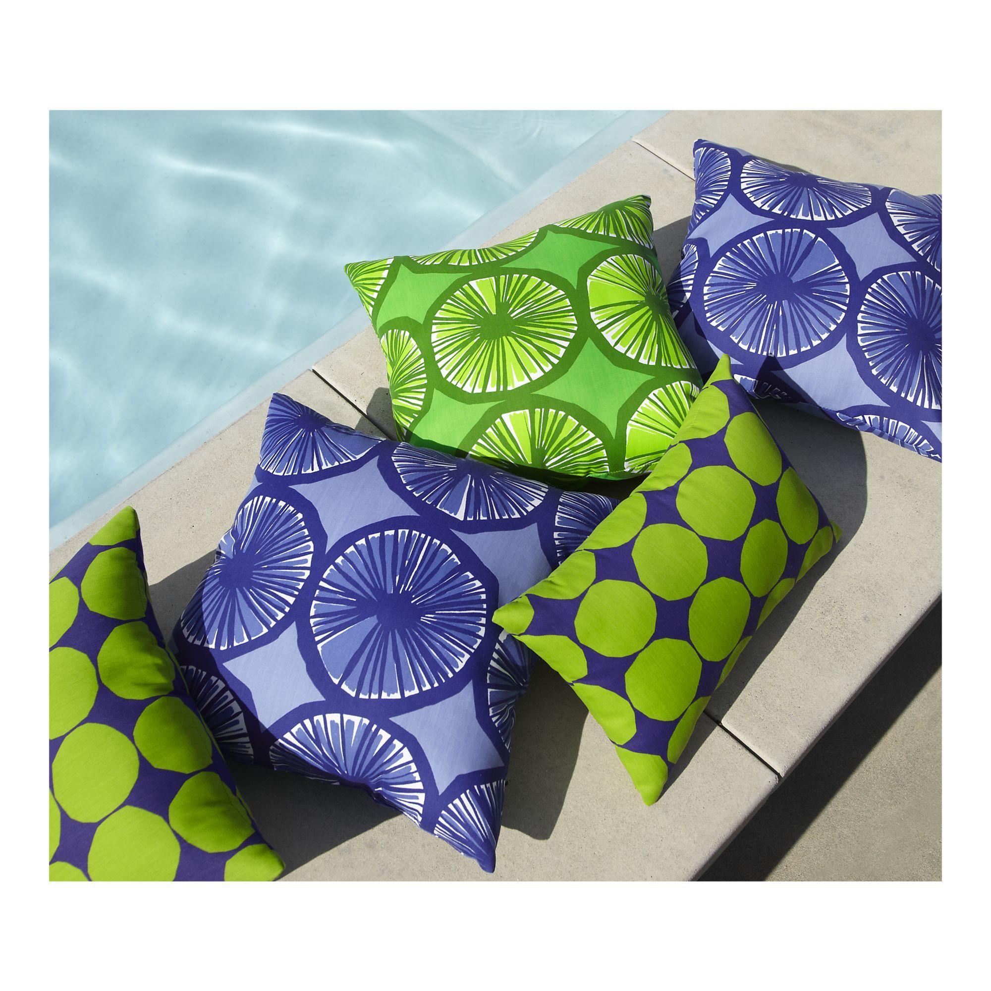 Marimekko Appelsiini Green 20 Sq Outdoor Pillow In Outdoor