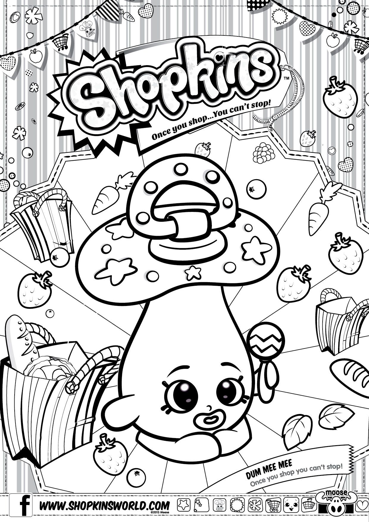 shopkin coloring sheets me in d lish donut colour me in