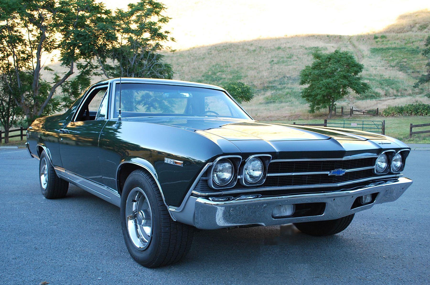 1969 Chevrolet El Camino Mine Was Black With Blue Pearl I Got It