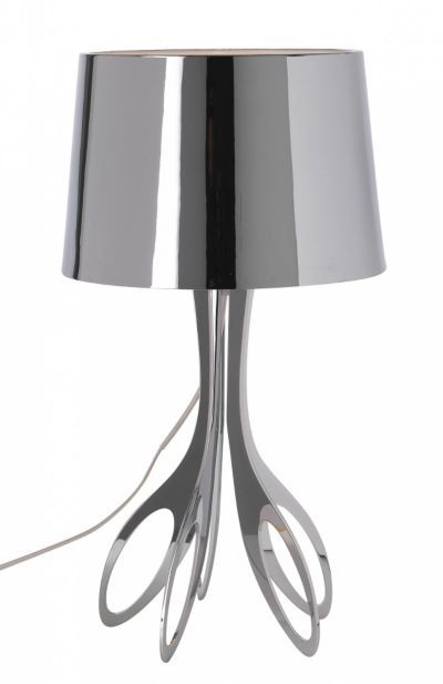 Vogue lampe à poser h 58 5 cm chrome