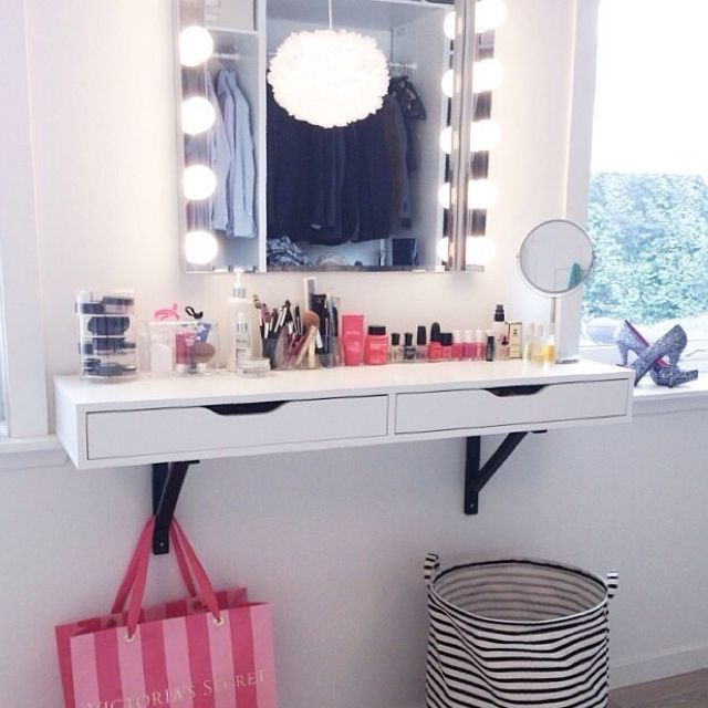 Ikea Ekby Alex Vanity Shelf Beauty Room Vanity Vanity Shelves