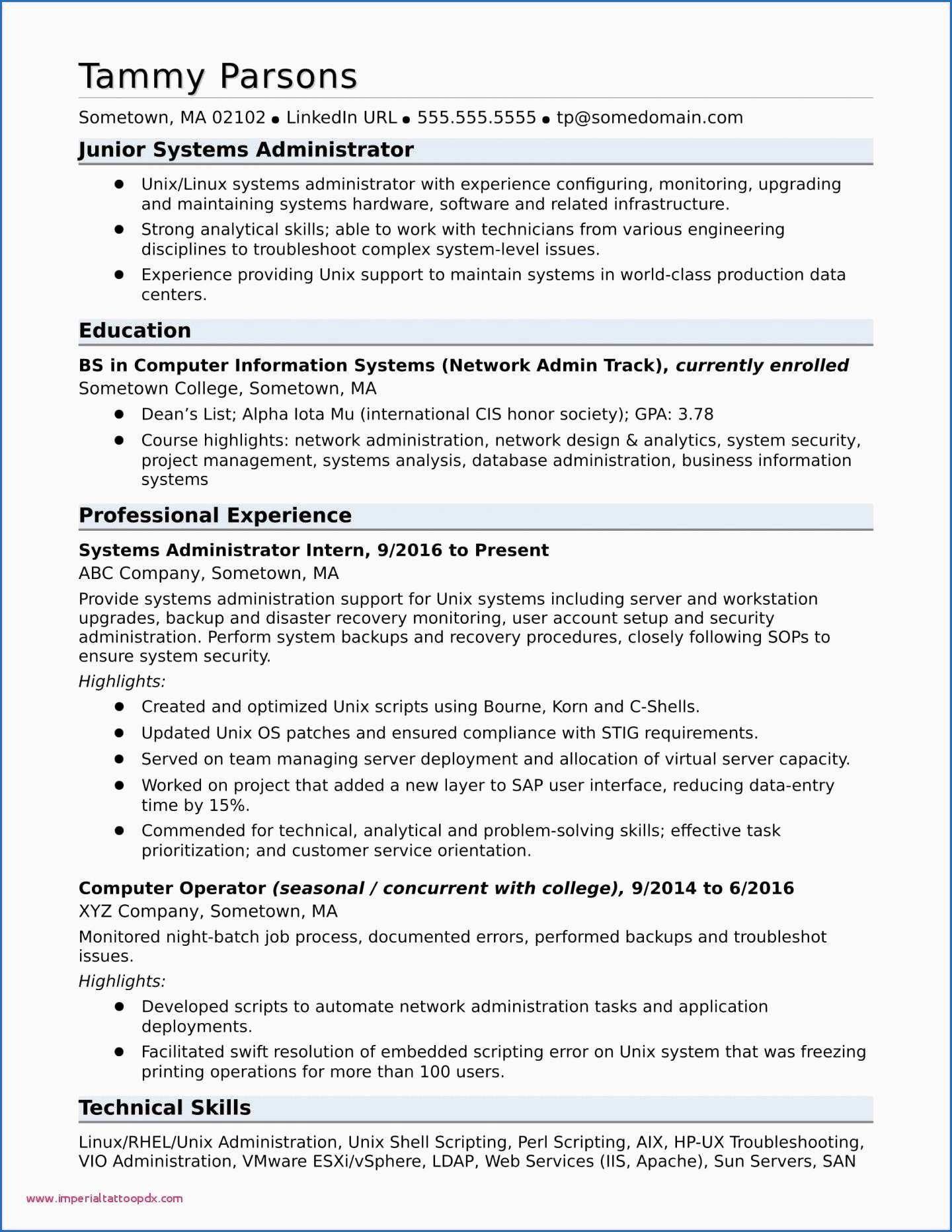 System Admin Resume Example Fresh Resume 2016 Sample New Modele Cv 2016 Model Resume Examples
