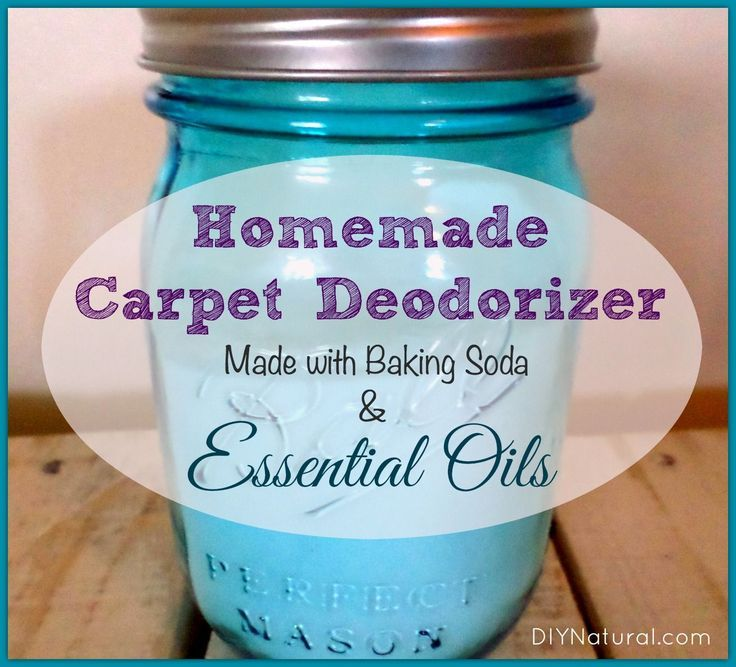Baking soda carpet cleaner deodorizer with essential