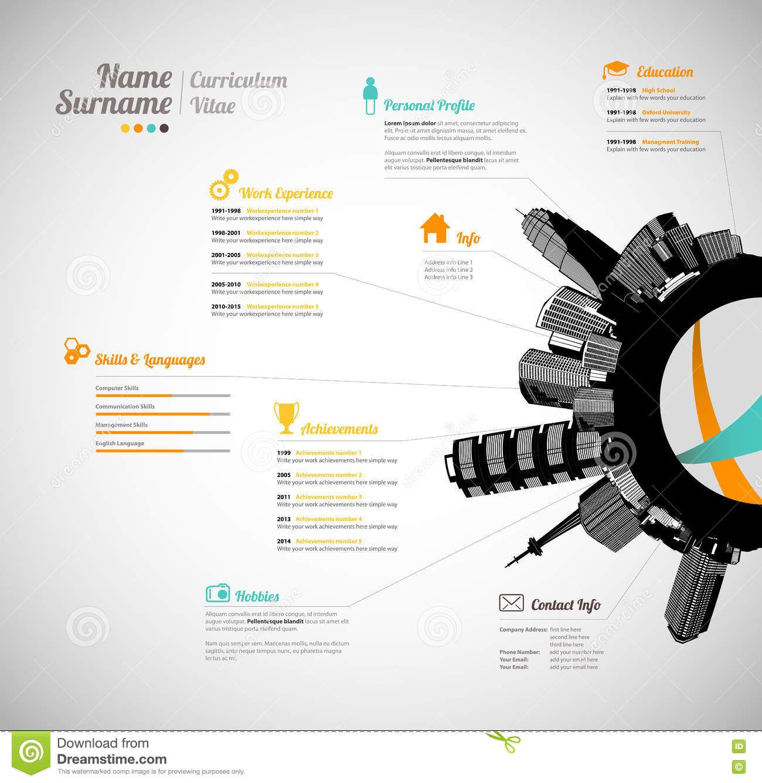 Creative curriculum vitae template   Business   Pinterest