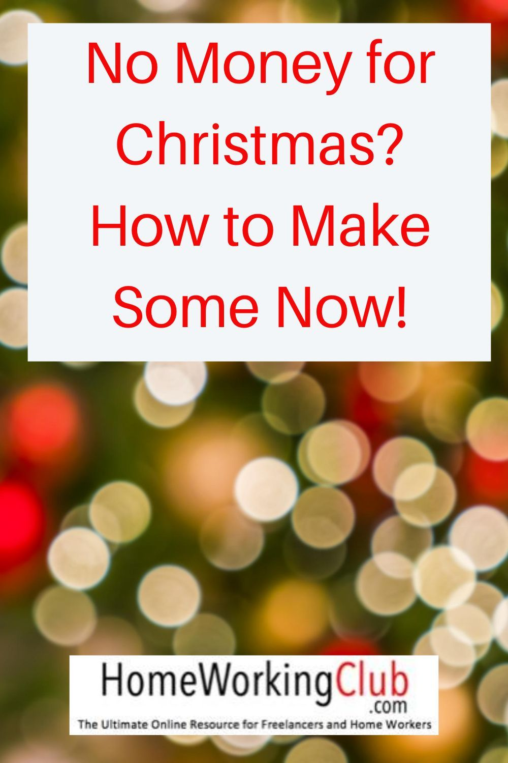 No Money For Christmas How To Make Some Now In 2020 Money Seasonal Jobs Temporary Work