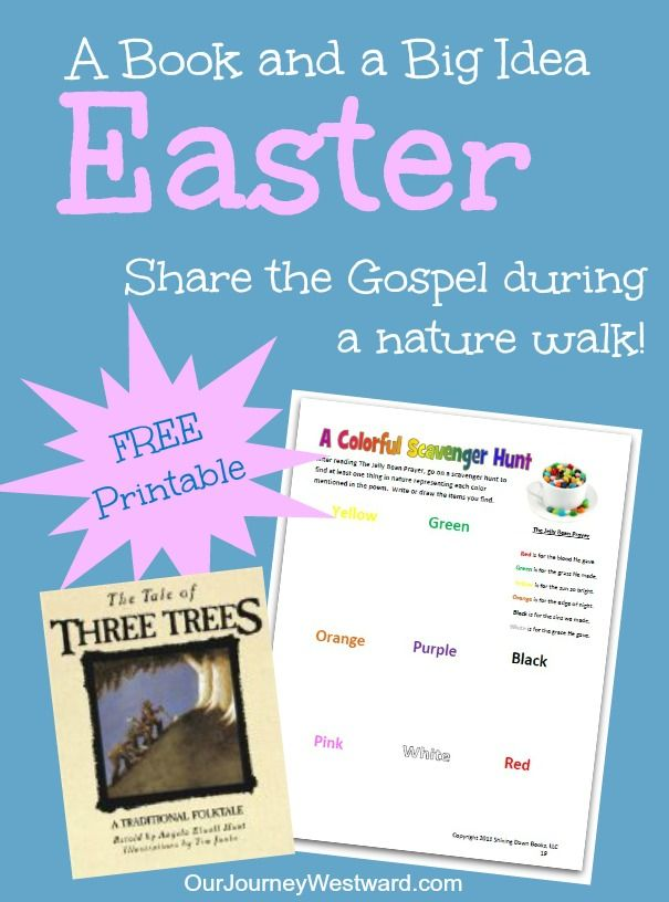 The Tale Of Three Trees Nature Walk Free Printable Walking In