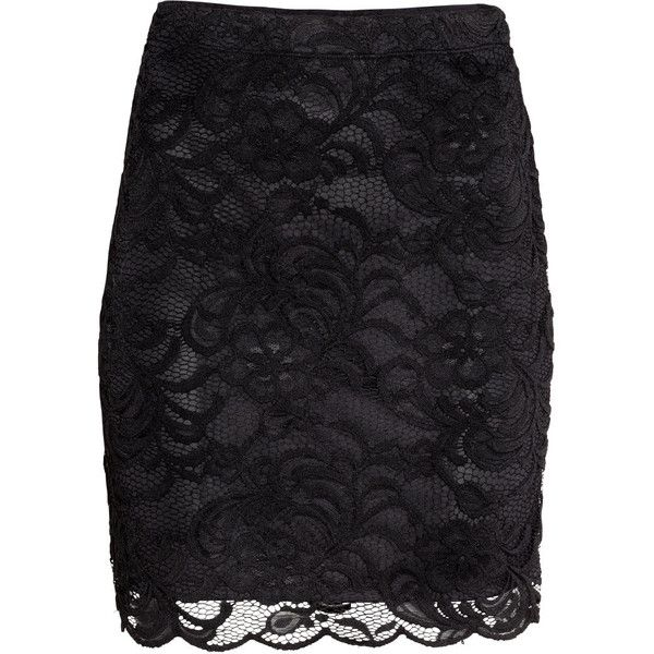 H&M Short lace skirt (32 AUD) ❤ liked on Polyvore featuring ...
