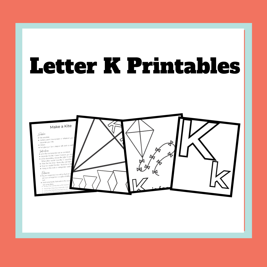 This fun printable offers a free letter K coloring page