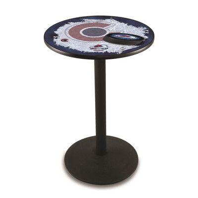 "Holland Bar Stool Pub Table Tabletop Size: 36"" H x 28"" W x 28"" D, NHL Team: Colorado Avalanche"